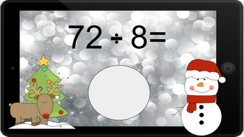 Google Classroom: Dividing by 8s - Winter Theme
