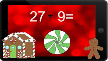Google Classroom: Dividing by 9s - Winter Theme