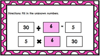 3.OA.B6 Google Classroom Division Relating to Multiplication