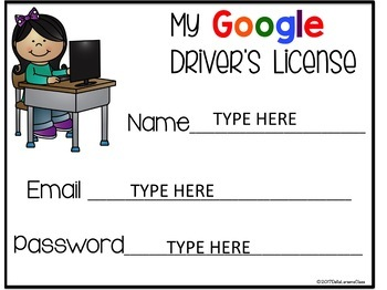 Google Classroom EDITABLE driver's license FREEBIE