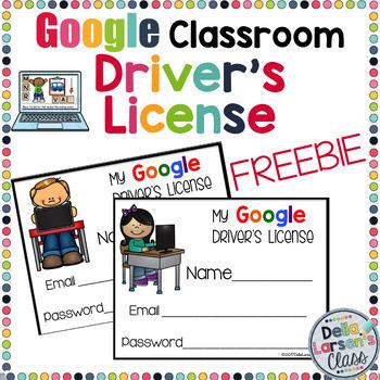 By Driver's Editable Class Della License Google Larsen's Classroom Freebie