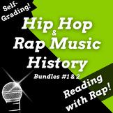 Google Classroom ELA Activities Double Bundle Using Hip Hop History, Rap Songs