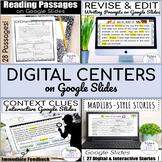 Digital Literacy Centers | Google Classroom ELA Activities