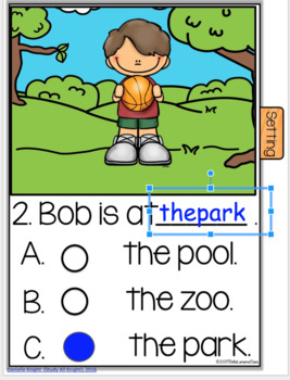 "Google Classroom Emergent Reader ""Bob and His Ball"""