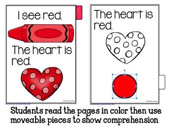 Google Classroom Emergent Reader - I Can Read Colors