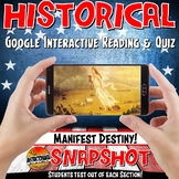 Google Classroom Westward Expansion History Snapshot Interactive Reading & Quiz