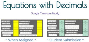 Google Classroom: Equations with Decimals