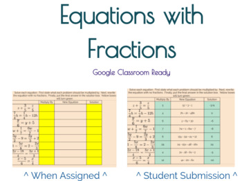 Google Classroom: Equations with Fractions