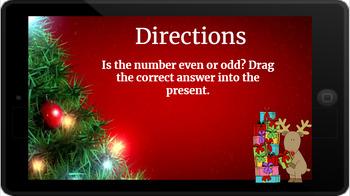 Google Classroom: Even or Odd 1 Digit- Christmas