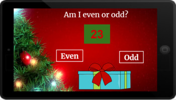 Google Classroom: Even or Odd 2 Digit Numbers- Christmas