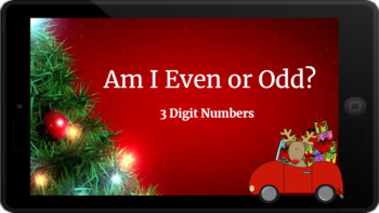 Google Classroom: Even or Odd 3 Digit Numbers- Christmas