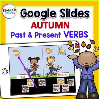 Google Classroom: Fall Leaves (Past & Present Verbs)