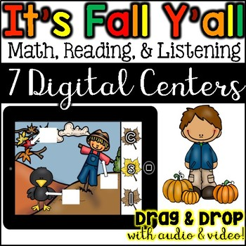 Digital Centers  Math, Reading, Listening Activities for Fall (Google Classroom)