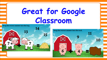 Google Classroom- Farm Theme Adding and Subtracting