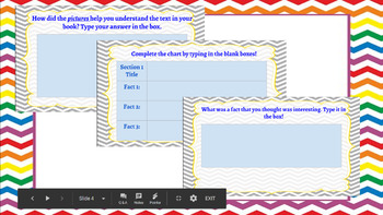 Google Classroom- Fiction and Non Fiction Task Cards