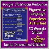 Google Classroom Figurative Language Paperless Activities Digital Notebook