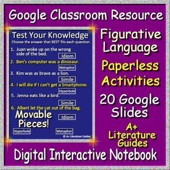 Google Slides Interactive Notebook - Figurative Language for Google Classroom