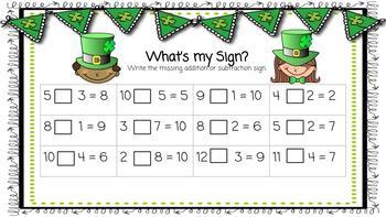 Google Classroom First Grade St. Patrick's Literacy and Math Unit