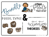 Google Classroom Fossils Bundle (Distance Learning) (Utah, Types and Extinction)
