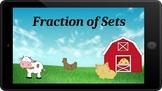 Google Classroom: Fraction of Sets- Farm Theme
