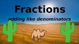 Google Classroom: Fractions- Adding Like Denominators