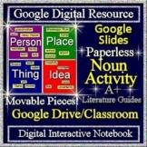 First Day of School Activities Google Classroom Interactive Notebook - Grammar