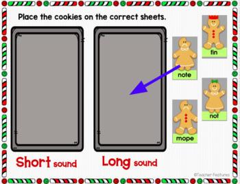 Google Classroom GINGERBREAD MAN CVC & CVCe WORDS Christmas Theme