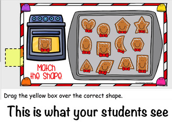 Google Classroom Gingerbread Cookie Shapes