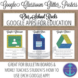 Google Classroom Glitter Posters- All Google Apps