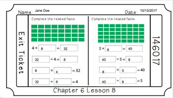 Google Classroom- Go Math Chapter 6 Exit Tickets
