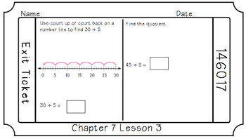 Google Classroom- Go Math Chapter 7 Exit Tickets