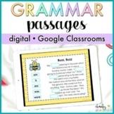 Google Classroom™ Grammar Passages Digital - Distance Learning