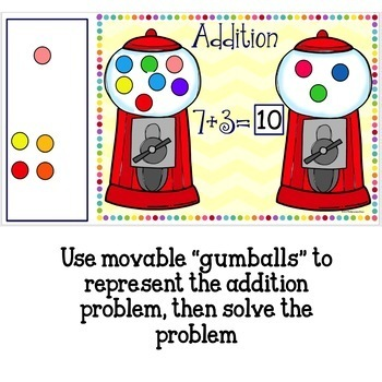 Google Classroom Gumball Addition and Subtraction