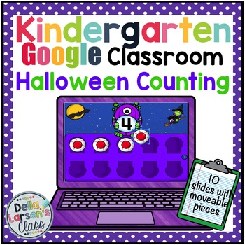 Google Classroom Halloween Counting with Ten Frames