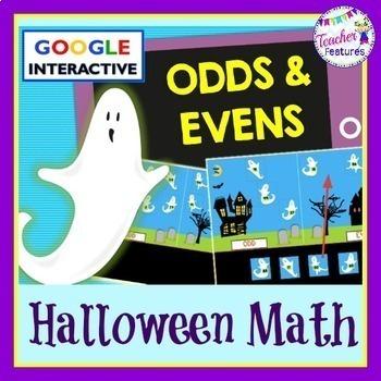 Google Classroom: Halloween Ghosts Odd & Even Numbers