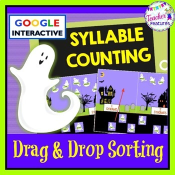 Google Classroom HALLOWEEN GHOSTS Syllable Counting