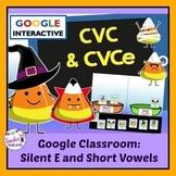 Google Classroom Halloween CVC & CVCe Sorts CANDY CORN THEME