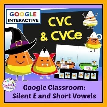 Google Classroom Halloween Word Sort (Candy Corn Theme): C