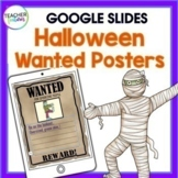 Google Classroom Halloween Writing Activities ADJECTIVES Wanted Posters