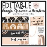 Google Classroom Header Images - Neutral Vibes