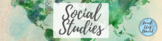 Google Classroom Header - Social Studies (Watercolor Map, Green)