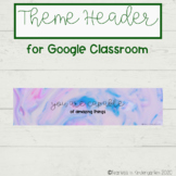 FREE Google Classroom Header for Distance Learning - Watercolor