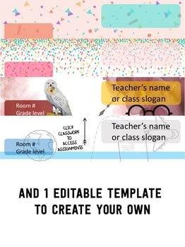 Google Classroom Headers