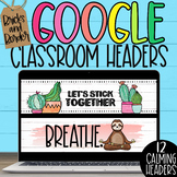 Google Classroom Headers Distance Learning WATERCOLOR