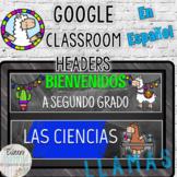 Google Classroom Headers Llama & Chalkboard Theme En Españ