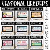 Google Classroom Headers Seasonal Bundle