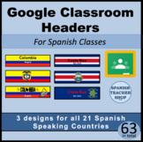 Google Classroom Headers for Spanish Class