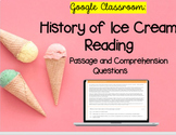 Google Classroom: History of Ice Cream - Distance Learning
