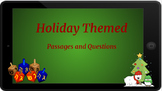 Google Classroom: Holiday Themed Comprehension Passage and Questions