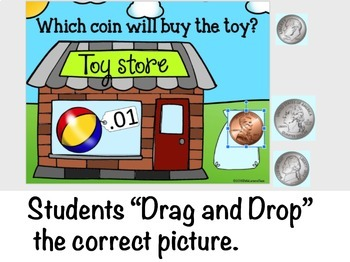 Google Classroom Identifying Coin Values